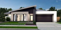 Modern House Facades, Modern House Design, Outdoor Living Areas, Indoor Outdoor Living, Double Storey House, Small Modern Home, One Story Homes, Home Theater Rooms, Australian Homes