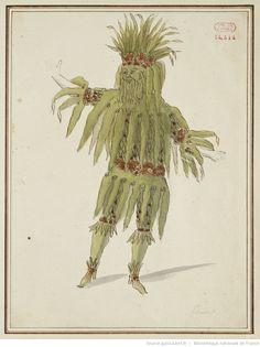 [Maquette de costume pour un spectacle non identifié] : [maquette de costume] / [d'après Jean Bérain]