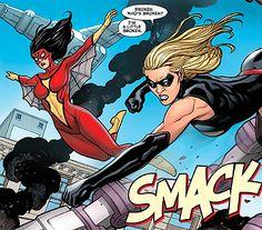 Carol Danvers and Jessica Drew