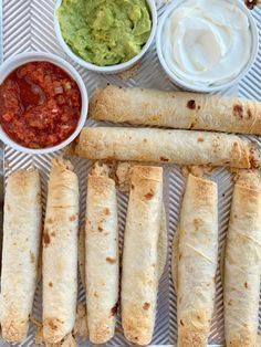 Flautas are a quick & easy dinner recipe that is ready in just 30 minutes! Cheesy salsa canned chicken filling inside flour tortillas and baked crispy. Dinner Recipes Easy Quick, Easy Meals, Simple Recipes, Canned Chicken, Salsa Chicken, Baked Orange Chicken, Cinnamon Roll Muffins, Cheesy Chicken, Recipe For 4