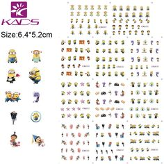 Hotsale minion nail stickers Cartoon nail sticker Water Transfer decoration with cheap nail stickers for nail design sticker