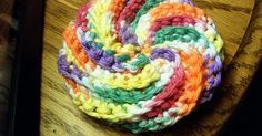 Spiral Scrubbie Spiral Scrubbie...  This pattern is available for free. Full post: Spiral Scrubbie