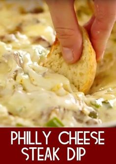 Philly Cheese Steak Dip | Perfect for parties, this dip will go fast. All that you love from the classic sub in the form of a dip. Warning - it goes fast! Watch the video to see how easy it is to whip up! #appetizers