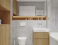 Projekt mieszkania. Kraków Nowe Czyżyny - Mała łazienka w bloku bez okna, styl skandynawski - zdjęcie od PRØJEKTYW   Architektura Wnętrz & Design