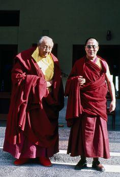 Dilgo Khyentse Rinpoche and Dalai Lama Gautama Buddha, Buddha Buddhism, Buddhist Monk, Tibetan Buddhism, Buddhist Art, 14th Dalai Lama, Ladakh India, Teacher Photo, Tibet