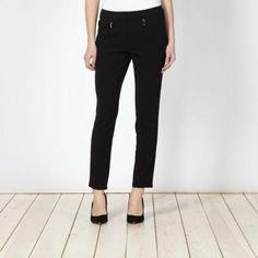 Designer black slim leg trousers at debenhams.ie