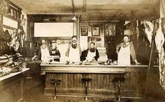 Butcher Shop, Oxford, Ohio early 1900s