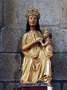 Vierge à l'enfant  (Fougères, région Bretagne, Eglise St-Sulpice, XVIème siècle)