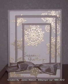 Creative Designs By Jackie....beautiful card