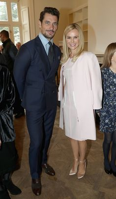 David Gandy and Amanda Holden during the visit of Camilla Duchess Of Cornwall to Battersea Dogs and Cats Home on February 1 2017 in Old Windsor...