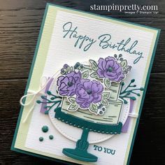 Happy Birthday To You Stamp Set & Birthday Dies for Stampin' Pretty Sketchbook Sketch 002 Lifestyles, lifestyles and quality … Birthday Cake Card, Happy Birthday Cakes, It's Your Birthday, Happy Birthday Ecard, Stampin Pretty, Happy B Day, Pretty Cards, Stamping Up, Stampin Up Cards