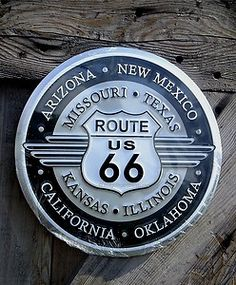 Embossed Route 66 Sign