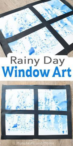 Rainy Day window art! A fun hands-on process art to do with a weather unit.  This is a great activity to do with the preschoolers or kindergarten!