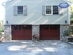 Infinity Classic Model I308S WG Cedar PC Finish Garage Doors