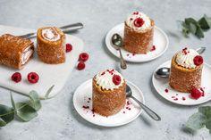 Runebergin kääretortut Halloumi, Panna Cotta, Cheesecake, Sweets, Ethnic Recipes, Desserts, Food, Clock, Tea