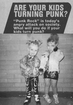 Are your kids turning punk? Personally, I'd love that of my kids :P
