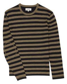 slub-cotton-stripe-sweater Men Sweater, Long Sleeve, Sleeves, Sweaters, Cotton, Mens Tops, T Shirt, Fashion, Supreme T Shirt