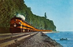 Empire Builder Great Northern Railway Streamliner Railroad Train postcard in Topics (Themes) > Transportation > Railway Great Northern Railroad, Empire, Train Times, Train Pictures, Train Engines, Train Tracks, Model Trains, Railroad Tracks, Diesel