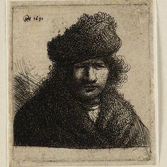 Rembrandt, zelfportret (B 14), 1630, Teylers Museum