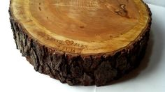 "Rustic Wood Cake Stand- Personalization- Tree Slice- Wood Slab- So cute, but the bottom layer is 18""!  We may need an ancient redwood!"