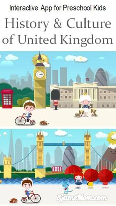 Learn history and culture of United Kingdom with fun interactive app for preschool kids