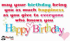 Happy Birthday Wish You