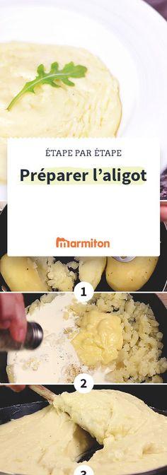 Connaissez-vous l'aligot ? Une spécialité fromagère auvergnate à base de tomme fraîche. Amoureux du fromage, foncez, grâce à notre pas à pas photo, vous ne pouvez pas le rater ! #marmiton #recette #cuisine #auvergne #aligot #tomme #pasapas