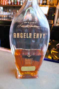 Angel's Envy – Whiskey aged in rum barrels that once also held cognac.