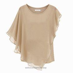 85e09f47 2015 New Style Women's Sexy Womens Casual T-shirt Short Sleeve Chiffon Tops  Crew Neck