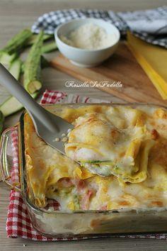 Lasagne con zucchine e prosciutto, ricetta primo piatto facile