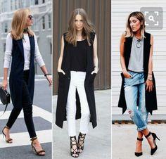 Sleevless Jacket, Sleeveless Blazer, Long Vests, Long Vest Outfit, Vest Outfits, Casual Outfits, Cute Outfits, Fashion Outfits, Womens Fashion