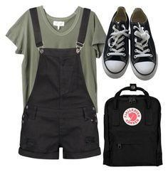 """Untitled #573"" by aaisha123 on Polyvore featuring The Great, Boohoo, Converse and Fjällräven"