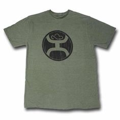 """HOOey """"2.0"""" Olive Heather Crew Neck T-Shirt – HT1242OL. 50% Cotton, 50% Polyester."""