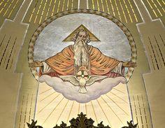 Saint Peter Roman Catholic Church, in Saint Charles, Missouri, USA - God the Father and Holy Spirit