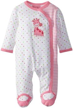 Amazon.com: Carter's Watch the Wear Baby-Girls Newborn Lovely Giraffe Coverall: Clothing  $9