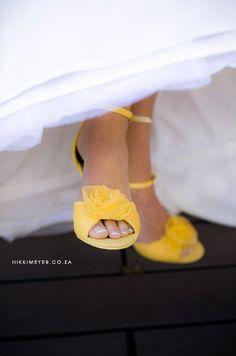 Yellow, Grey & White Wedding Ideas {Inspiration Board} | Confetti Daydreams -  Yellow bridal heels ♥ #Yellow #Grey #White #Wedding #InspirationBoard ♥  ♥  ♥ LIKE US ON FB: www.facebook.com/confettidaydreams  ♥  ♥  ♥