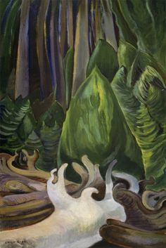 Sea Drift At The Edge Of The Forest by Emily Carr Handmade oil painting reproduction on canvas for sale,We can offer Framed art,Wall Art,Gallery Wrap and Stretched Canvas,Choose from multiple sizes and frames at discount price. Canadian Painters, Canadian Artists, Impressionist Paintings, Landscape Paintings, Prado, Emily Carr Paintings, Vancouver Art Gallery, Post Impressionism, Oil Painting Reproductions