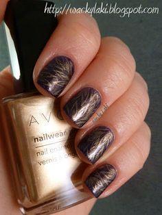 Avon Violetta stamped with Avon Gleaming Gold