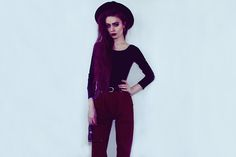 Thrift Store Bodysuit, Thrift Store Hat, Stolen From My Mom`S Closet Jeans, Ray Ban Sunglasses