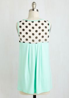 Sundae Funday Top. Youre feeling three scoops of delighted as you set off on an ice cream expedition in this pale mint tank! #mint #modcloth $30