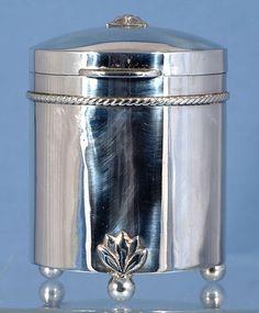 A E Jones (Albert Edward Jones),Arts and Crafts,Arts & Crafts,Sterling Silver Tea Caddy,Gifts