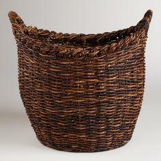 Oversized Madras Avery Basket | World Market