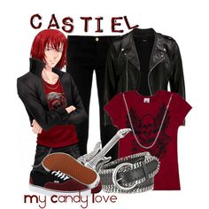 """""""Castiel, from My Candy Love"""" by blackrabbitmegapig on Polyvore"""