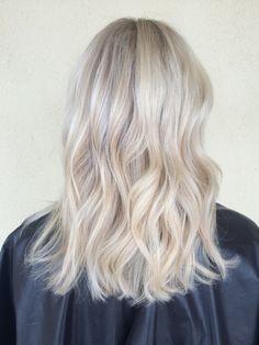 Beautiful icy blonde hair by @hair.by.alexa