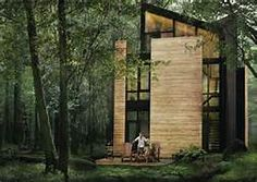 has completed a series of cabin-inspired homes for a woodland development between the shores of Lac Supérieur and the Mont-Tremblant ski resort, Quebec Residential Log Cabins, Residential Architecture, Contemporary Architecture, Architecture Design, Of Montreal, Lake Cabins, Lake Superior, Cabins In The Woods, Interior Exterior