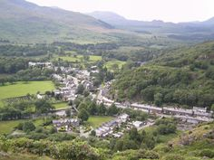 overlooking the town of bedgellert in wales the town named after his faithfull dog an uncle of my williams tree