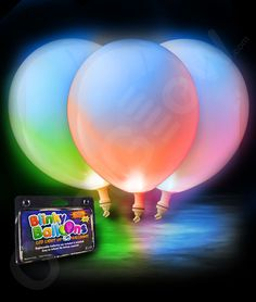 These LED light up multicolored balloons are perfect for any party! They're available in red, blue, green, orange and other colors! CoolGlow.com