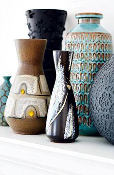 Colourful vases - House tour: Bold exotic Edwardian