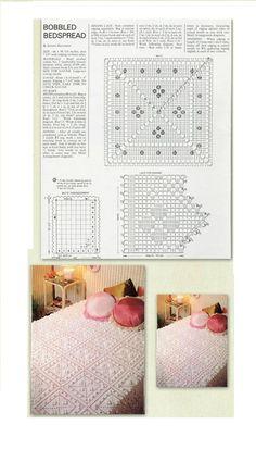 Crochet Bedspread 'Bobbled Bedspread'…..