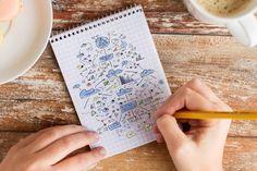 Sketchnotes sind eine grandiose Art, um Struktur in seine Aufzeichnungen zu bekommen. Im Gegensatz zu üblichen Notizen sind Sketchnotes meist nicht linear strukturiert. Und keine Angst: Man muss kein Zeichentalent sein, um Notizen als Sketchnotes festhalten zu können.